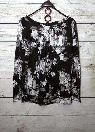 Красивая женская кофта блуза в цветочный принт из вискозы uk20