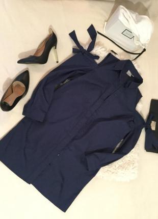 Мега крутючая рубашка - платье asos с открытыми плечами и скрытой планочкой м(38)💄❤️💋