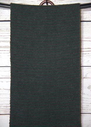 Серо-зеленый вязанный мужской шарф