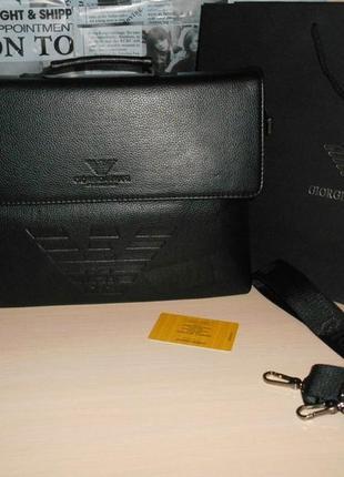 Сумка-портфель мужская  кожа, италия 131-5