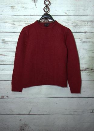 Шикарный шерстяной укороченный свитер