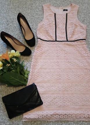 Платье кружево пудра р.46 от f&f