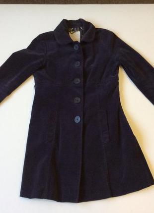 Утонченное женственное пальто велюровое