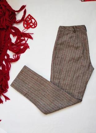 Шерстяные укороченные брюки на высокой посадке