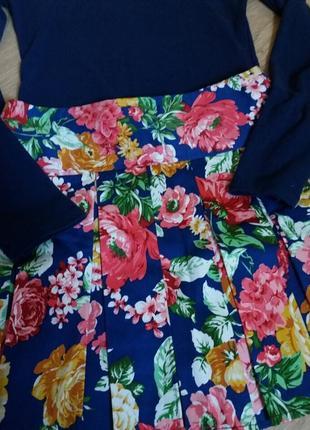 Красивая яркая юбка