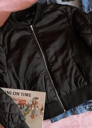 Чёрный бомбер / куртка на синтепоне