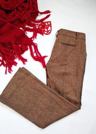 Теплые шерстяные прямые брюки-трубы zara