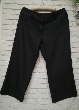 Итальянские шерстяные брюки кюлоты,р.xl