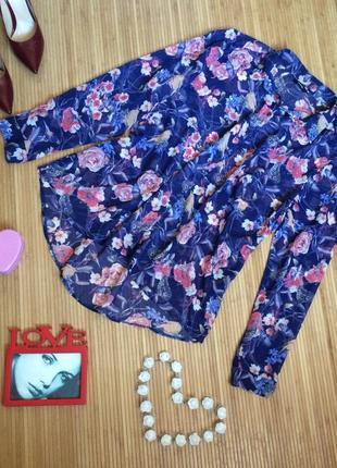Красивая шифоновая блуза,размер xxl