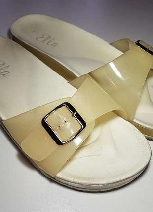 Шлепанцы ella shoes, 40р. 26 см, в хорошем сост.