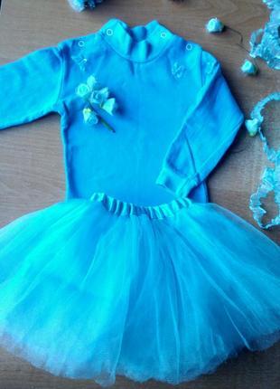 Костюм балерины на новый год, для худенькой девочки 1-2 года, торг