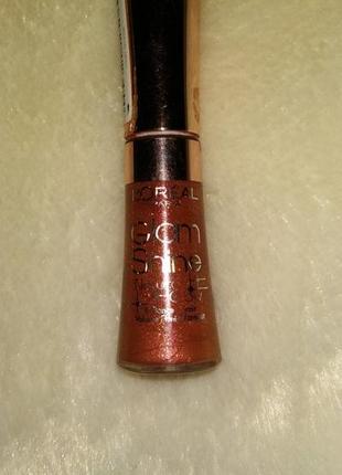L'oreal paris glam shine natural glow. блеск для губ, №411 оттенок.