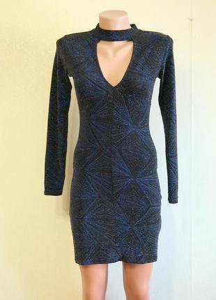 Платье облегающее с мерцающим принтом