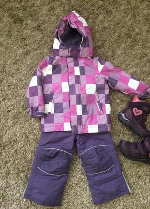 Детский зимний термо комплект (куртка и полукомбинезон)