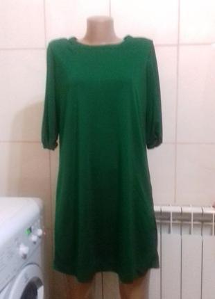 Платье zara изумрудного цвета.