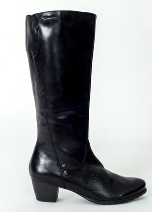 Кожаные сапоги tamaris  (р-р 40-41 )