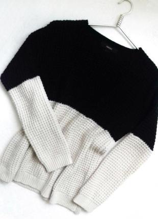 Объемный свитер крупной вязки оверсайз forever 21
