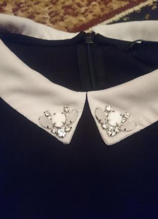 Блуза с белым воротником 1+1=3 при покупке 2-х вещей третья в подарок