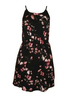 Расклешенное платье сарафан цветочный принт вискоза размер 44-46