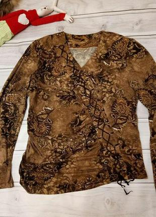 Блузка со шнуровкой, размер 50-52