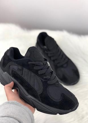 Акция!!! мужские кроссовки adidas yung 1 full black