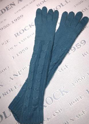 Стильные длинные брендовые перчатки