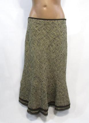 Фирменная длинная теплая юбка шерсть акрил