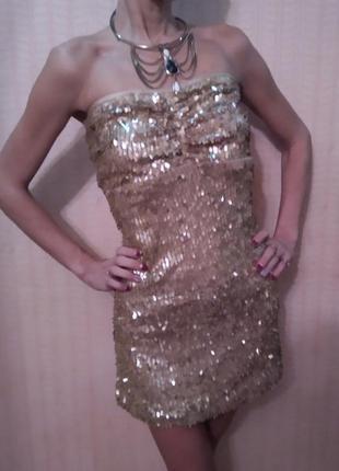 Шикарное мини платье, туника, всё в паетках. на новый год или другие праздники