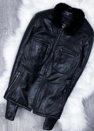 Шкіряна зимова куртка rocco baroco