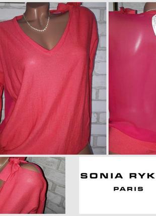 Sonia by sonia rykiel изысканный тонкий шелк шерсть р м-л оригинал