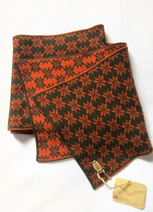 Тёплый широкий двухсторонний шарф. motor jeans