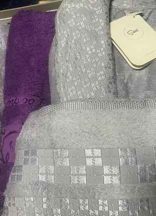 Набор турецких бамбуковых халатов и полотенец семейный