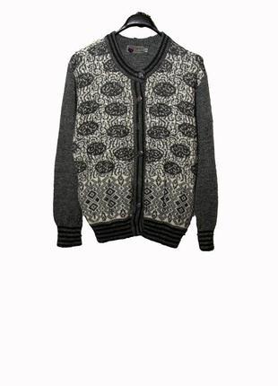 Шерстяной свитер кардиган