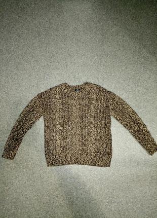 Теплый меланжевый свитер