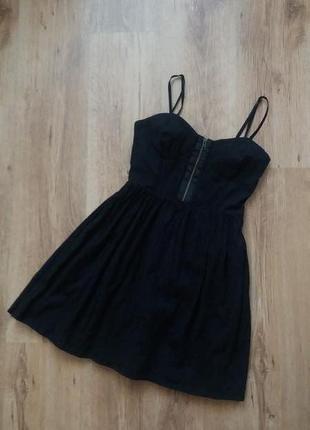 Черное короткое  платье - туника, topshop, размер s