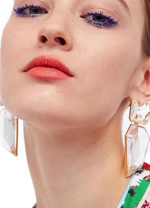 🆕 роскошные серьги кристаллы, массивные большие сережки, сережки