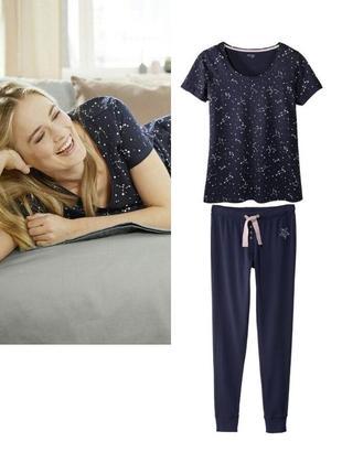Красивая женская пижама домашний костюм esmara германия, футболка штаны джоггеры