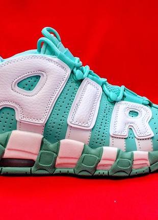 da17e6ea7 Nike air more uptempo 96 island green/white женские осенние зимние кроссовки