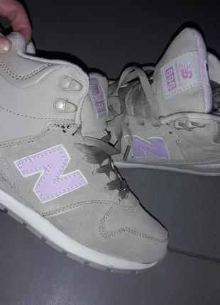 36-41 new balance 696 нат замша кроссовки женские зима кожа на меху зимние ботинки беж