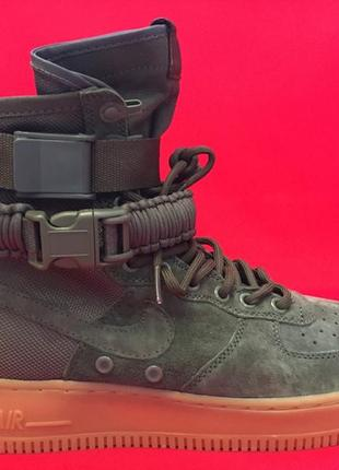 Nike sf air force 1 high special field olive последний размер зима осень