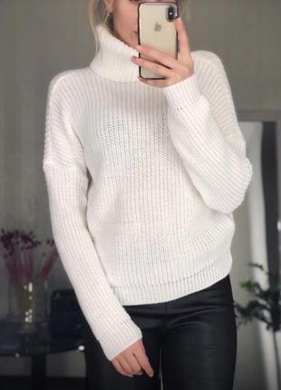 В'язаний светр під горло вязаный свитер (разные цвета різні кольори)