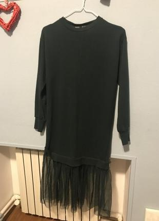 Платье- свитшот bershka