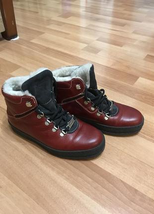 Кожаные ботинки 🥾 кожаные угги  ботинки натуральная овчина