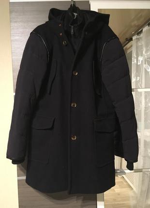 Пальто zara хl, 52 оригинал шерстяное зимнее