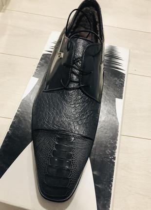 Moreschi зимние туфли с страуса