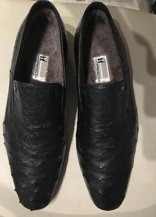 Moreschi зимние туфли из страуса