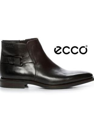 Кожаные ботинки с амортизацией shock poin ecco faro, 44 размер