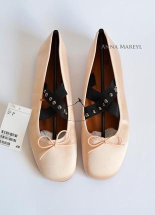 Балетки туфли h&m с пятнышками с дефектом1