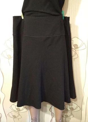 Черная классическая юбка большого размера