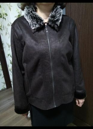 Дубленка дублёнка дублянка куртка размер 20 шуба шубка курточка верхняя одежда